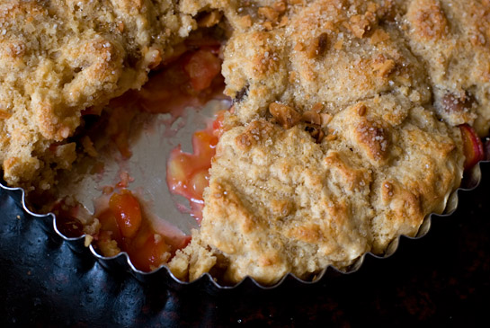 This cherry cobbler, though not technically a pie, looked too delicious to leave out