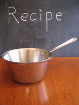 Use a shallow dish (not a pot) for making this recipe. I just think this picture is adorable.