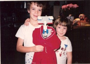 We attempted to make the robot Johnny 5 from the movie Short Circuit. Like my bowl cut?