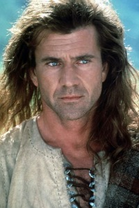 Mel Gibson with luscious locks and a weird accent + film rife with historical inaccuracies = amusement.