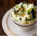 Olive Oil + Kale Mashed Potatoes